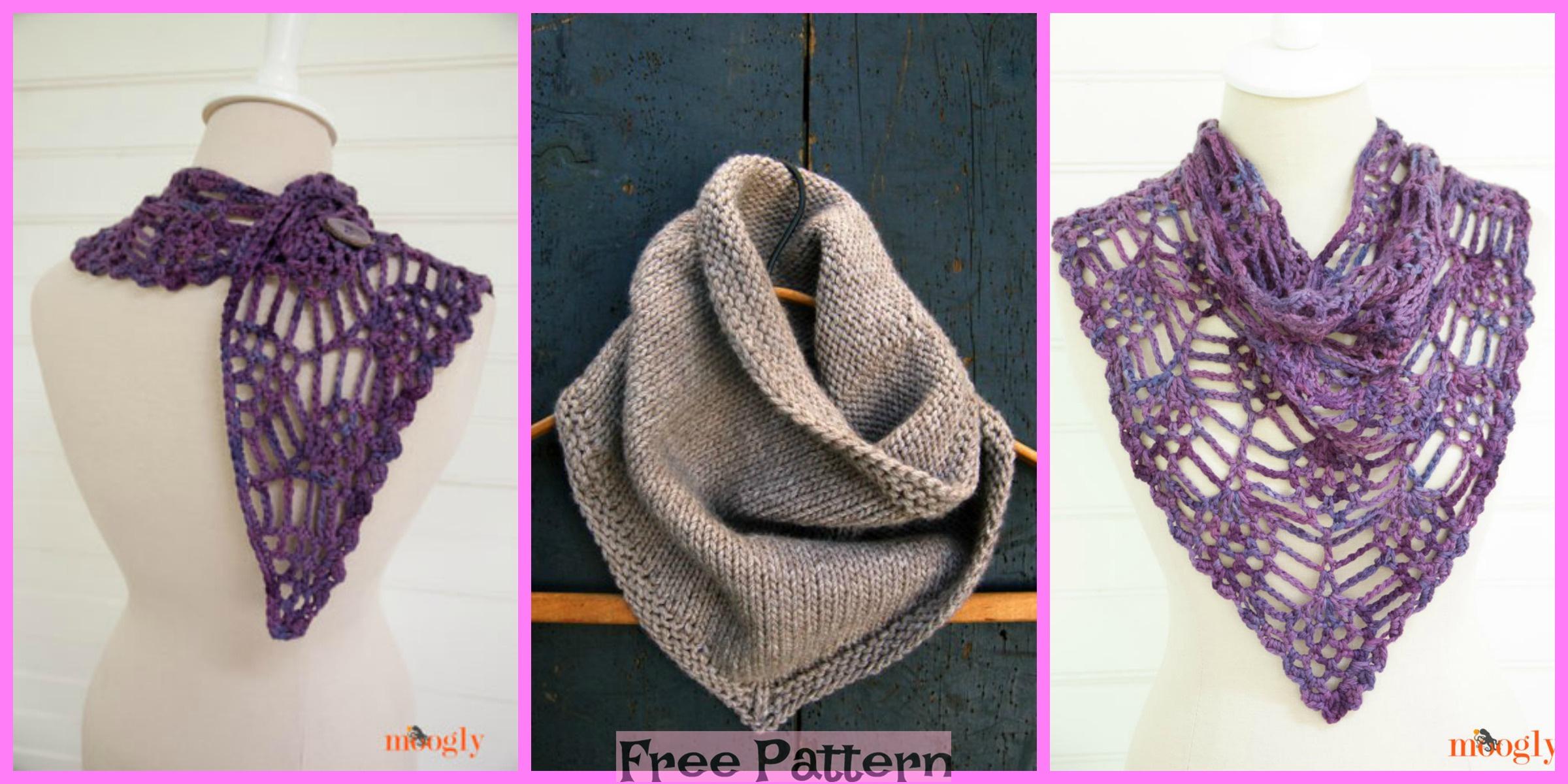 Pretty Crochet Bandana Cowl – Free Pattern