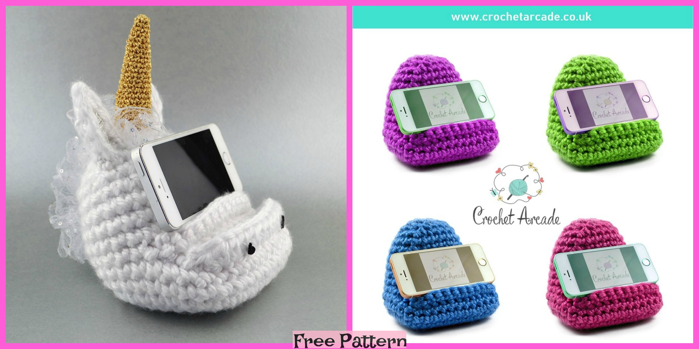 Crochet Cell Phone Holder – Free Pattern