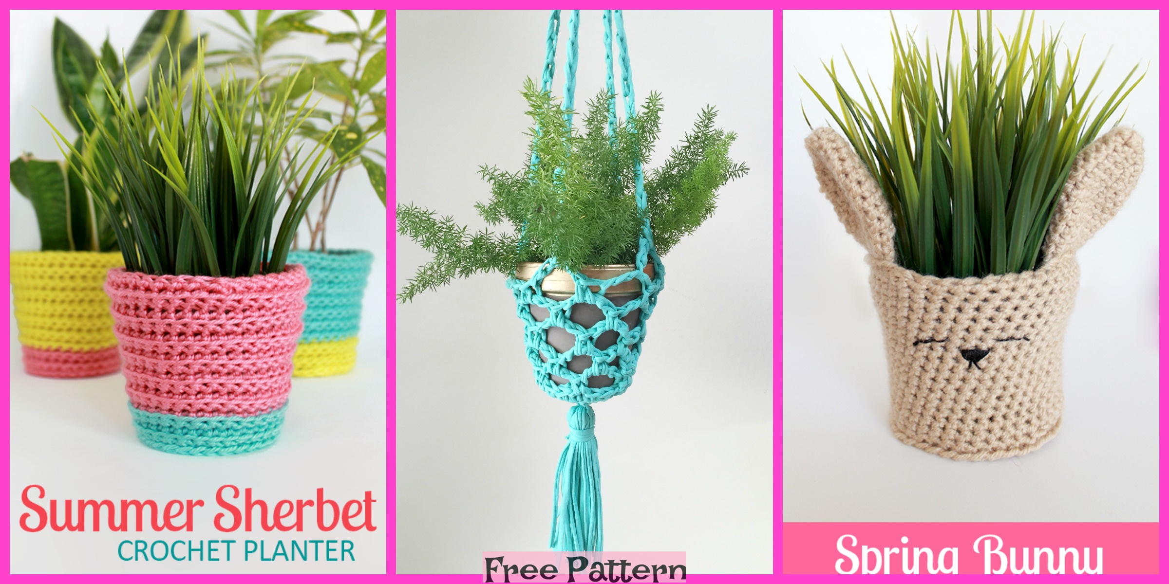 Crochet Fabulous Planter – Free Patterns