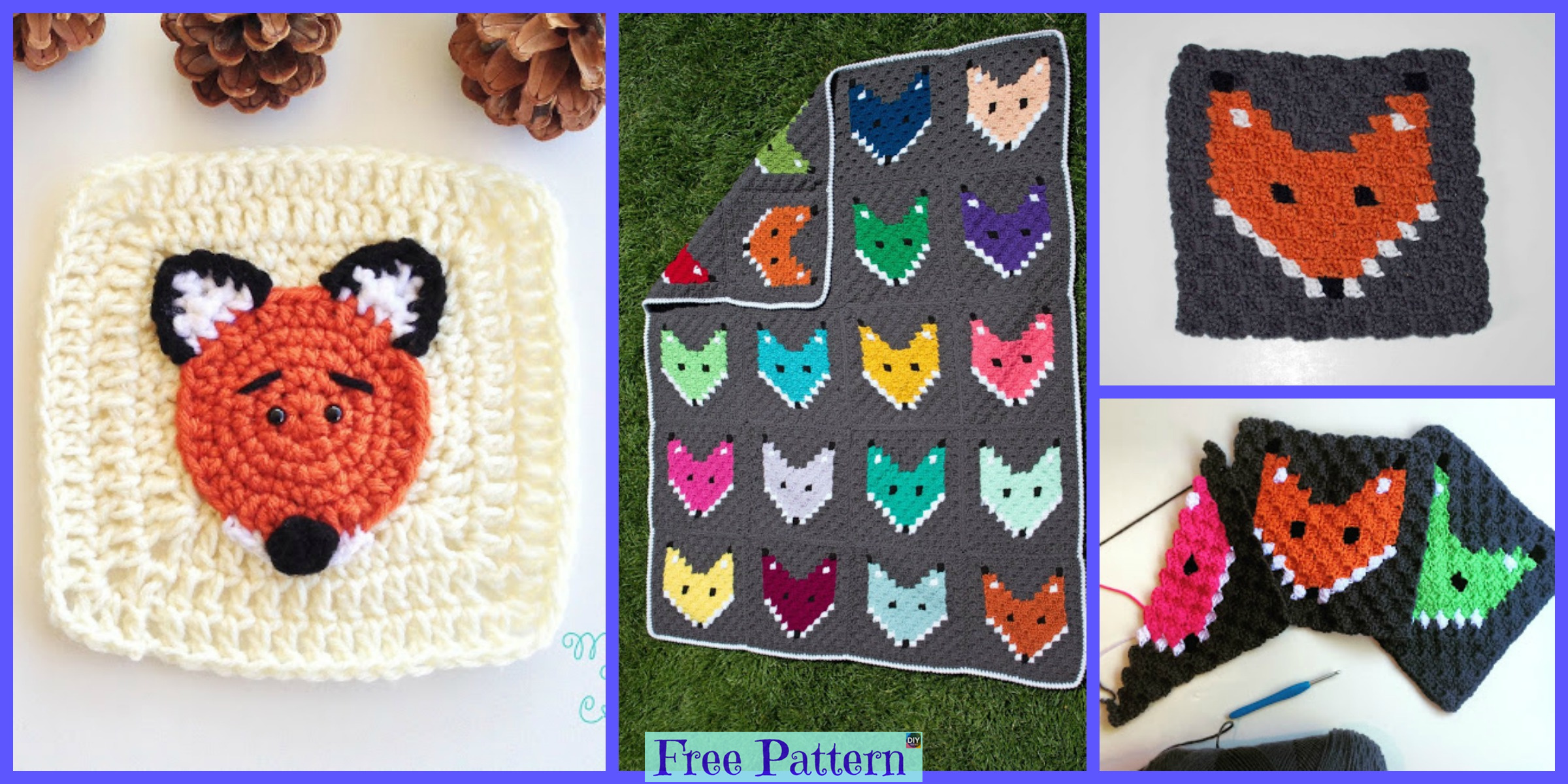 Crochet Fox Granny Square – Free Pattern