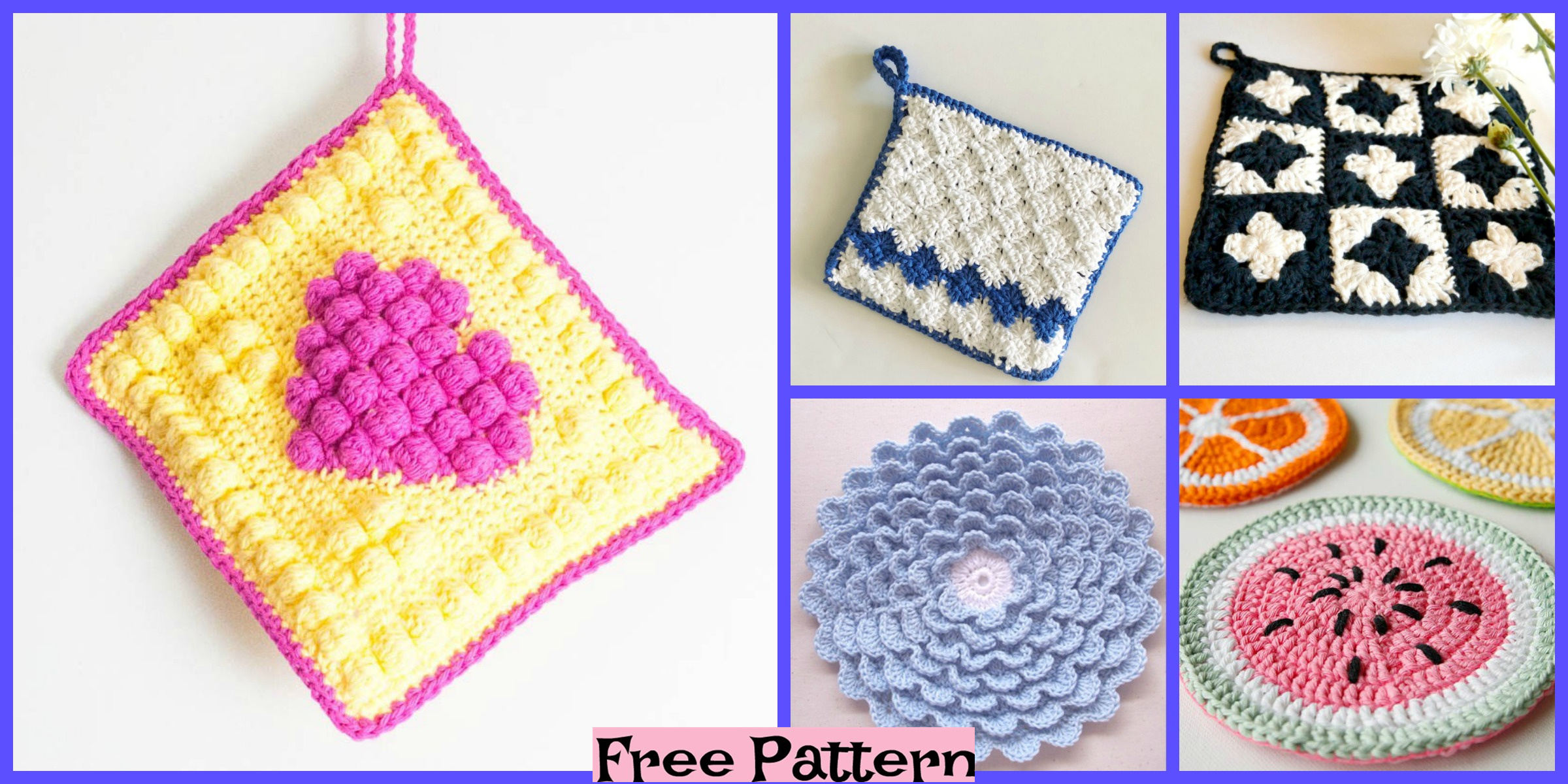 Useful Crochet Hot Pads – Free Patterns