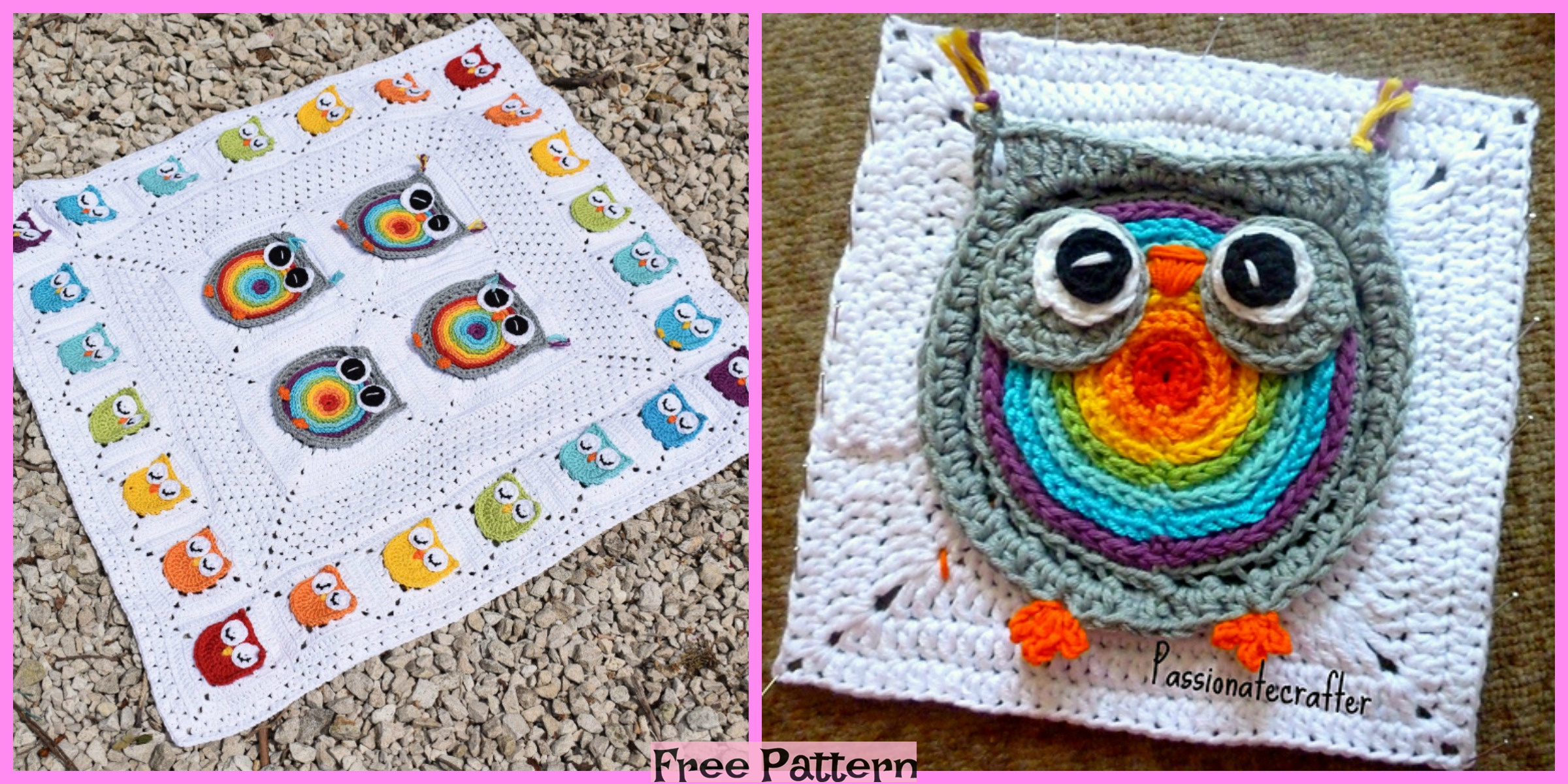 Crochet Owl Granny Squares – Free Patterns