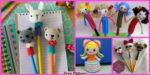 diy4ever-Crochet Pencil Topper – Free Patterns