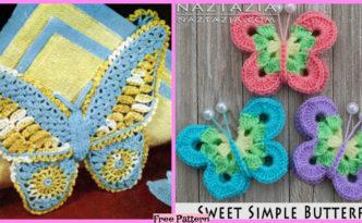 diy4ever-Crochet Sweet Butterfly - Free Pattern