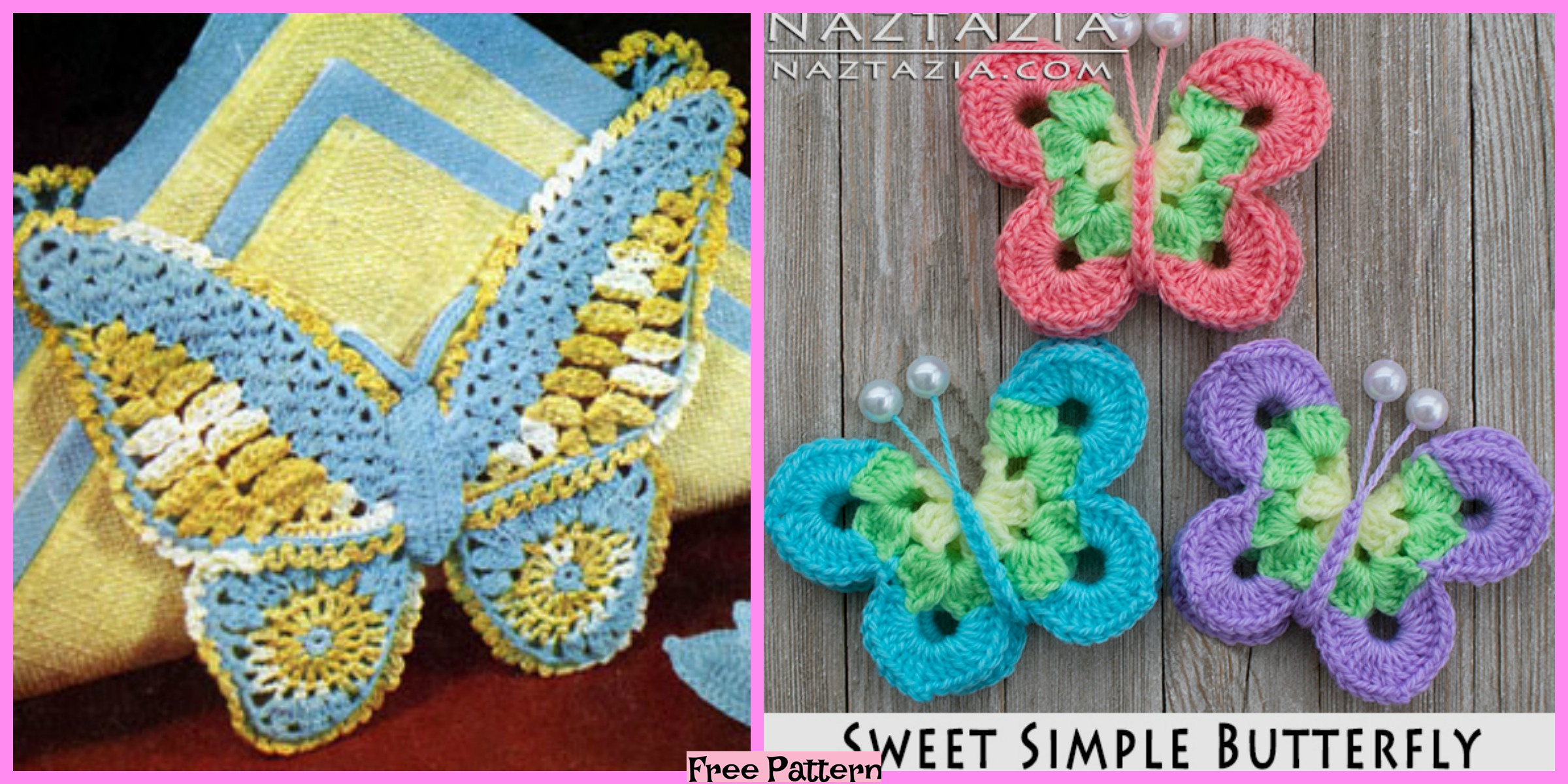 Crochet Sweet Butterfly – Free Pattern