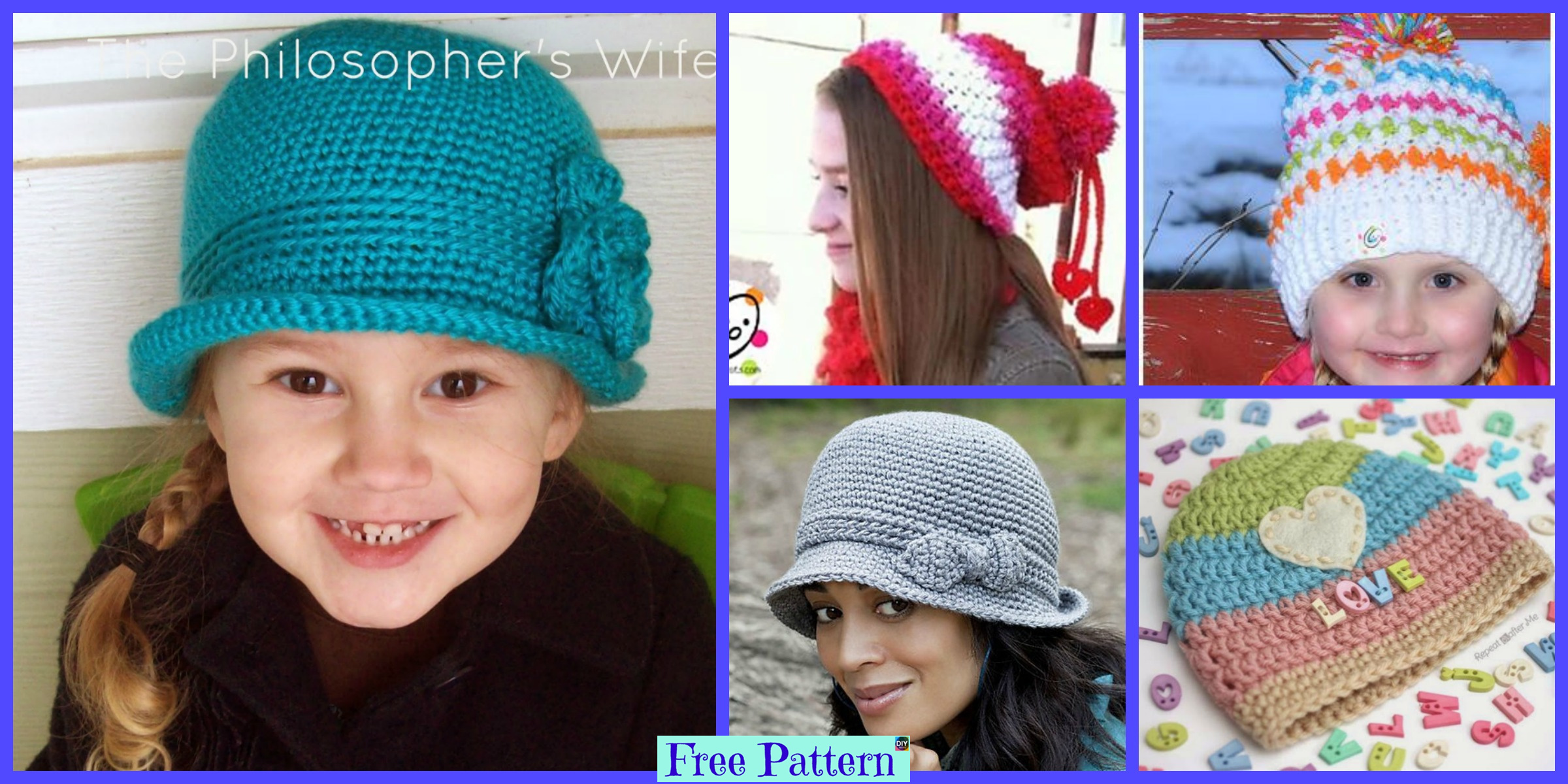 Cute Crochet Sweet Hat – Free Patterns