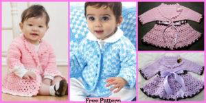 diy4ever-Crochet baby Jacket - Free Patterns