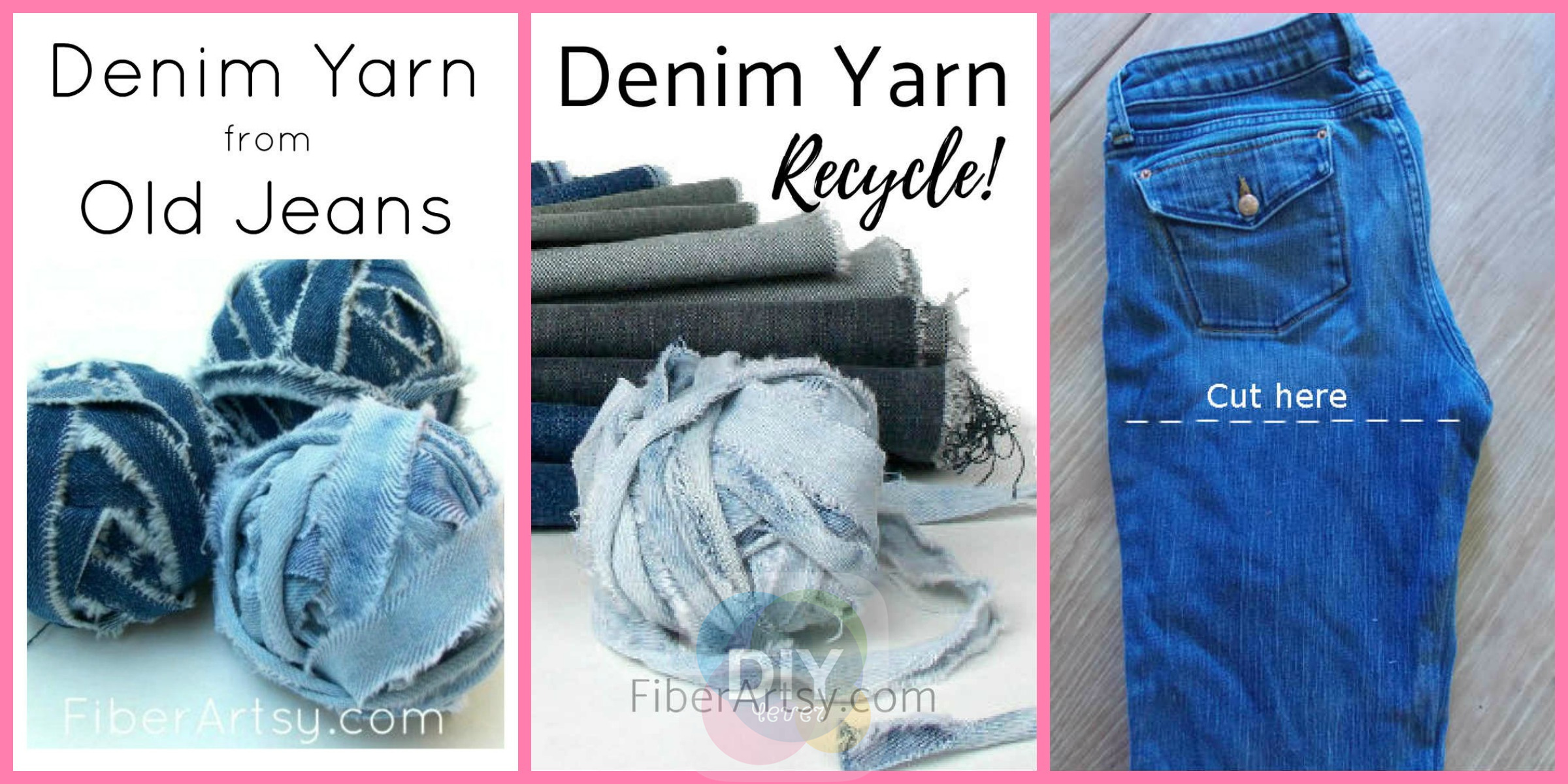 How to DIY Denim Yarn from Old Jeans