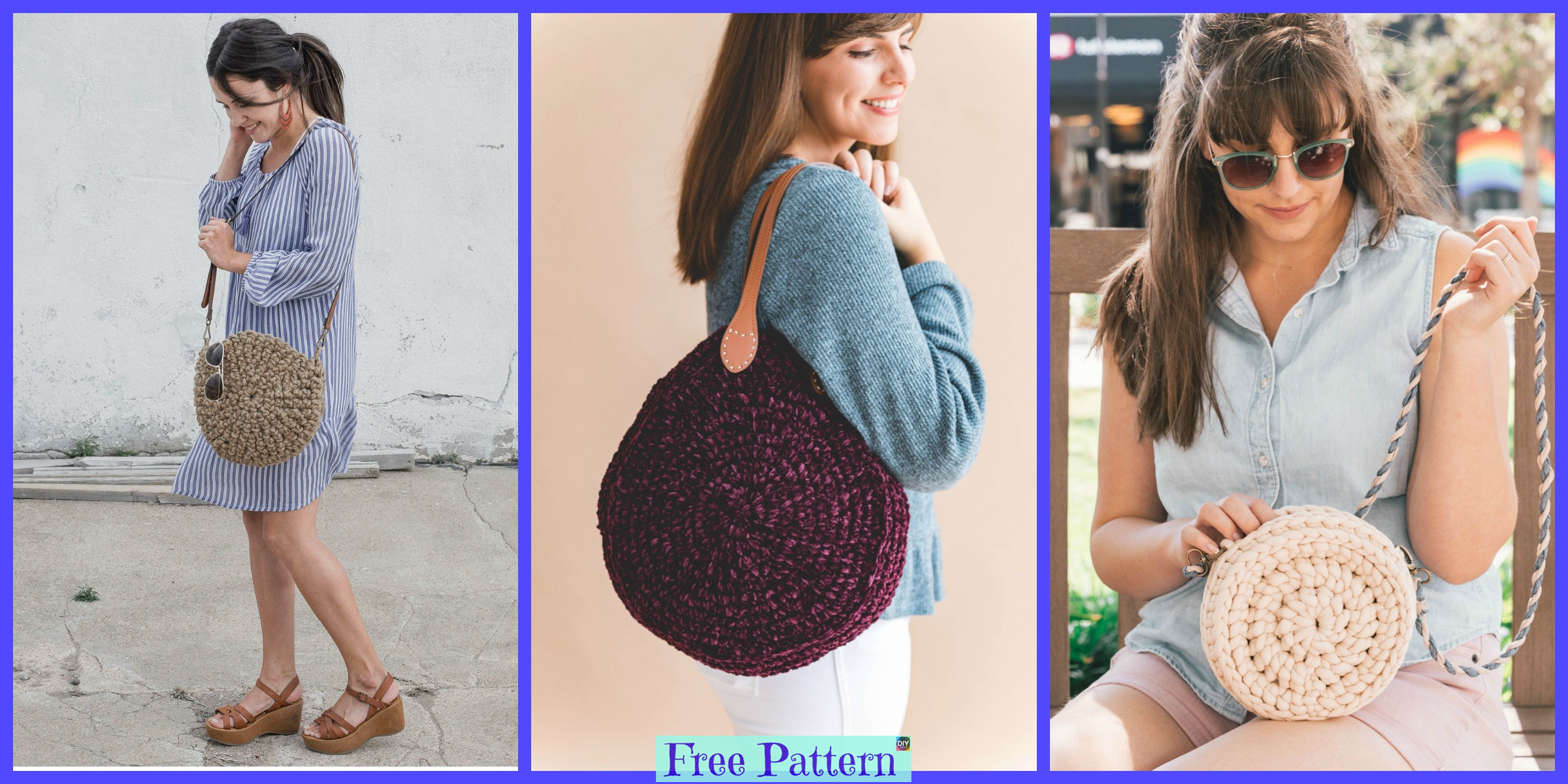 Unique Crochet Circle Bags – Free Patterns