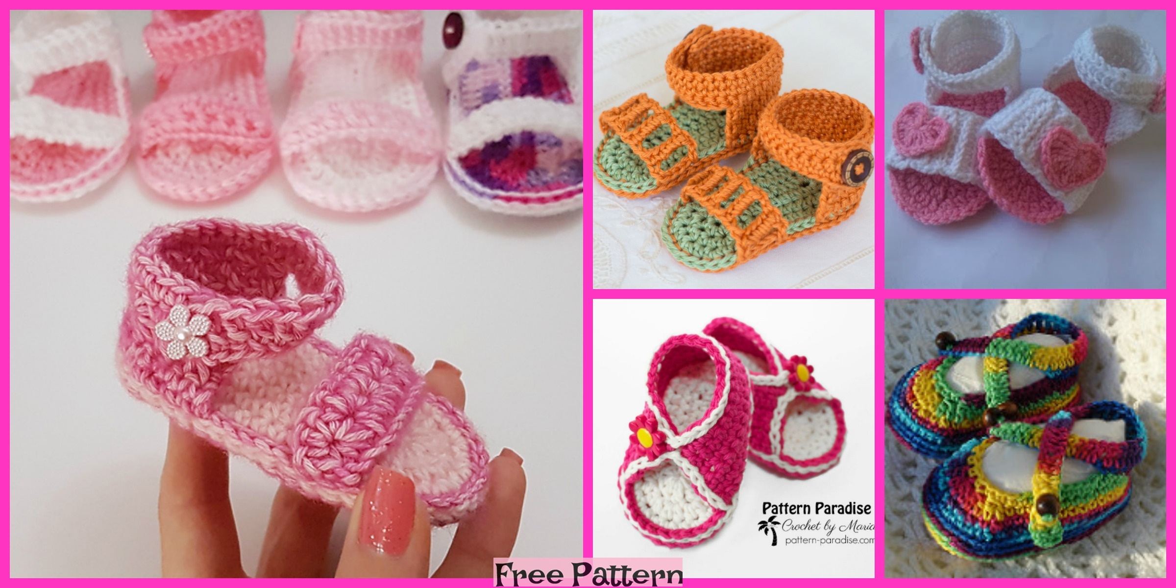 10 Crochet Spring Sandals – Free Patterns