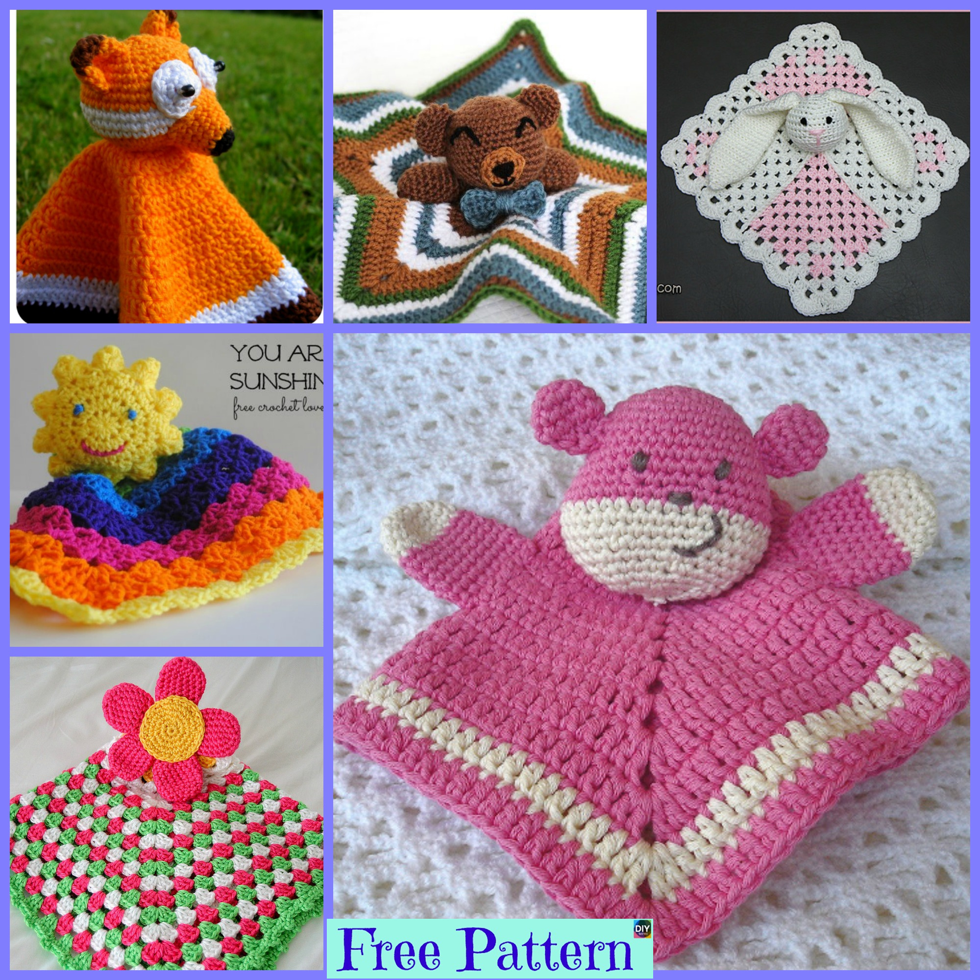 10 Popular Crochet Lovey Free Patterns