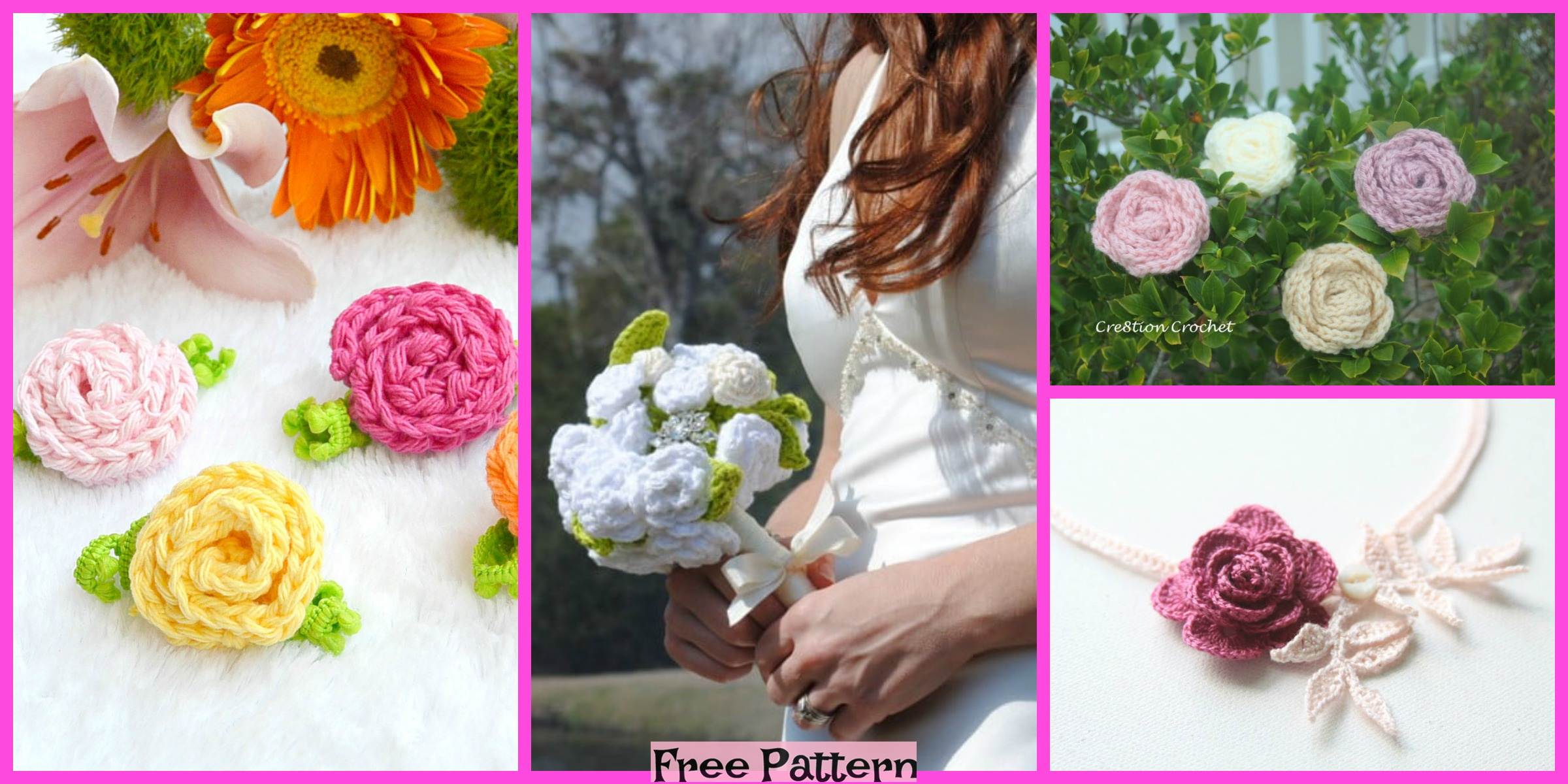 6 Wonderful Crochet Roses – Free Patterns