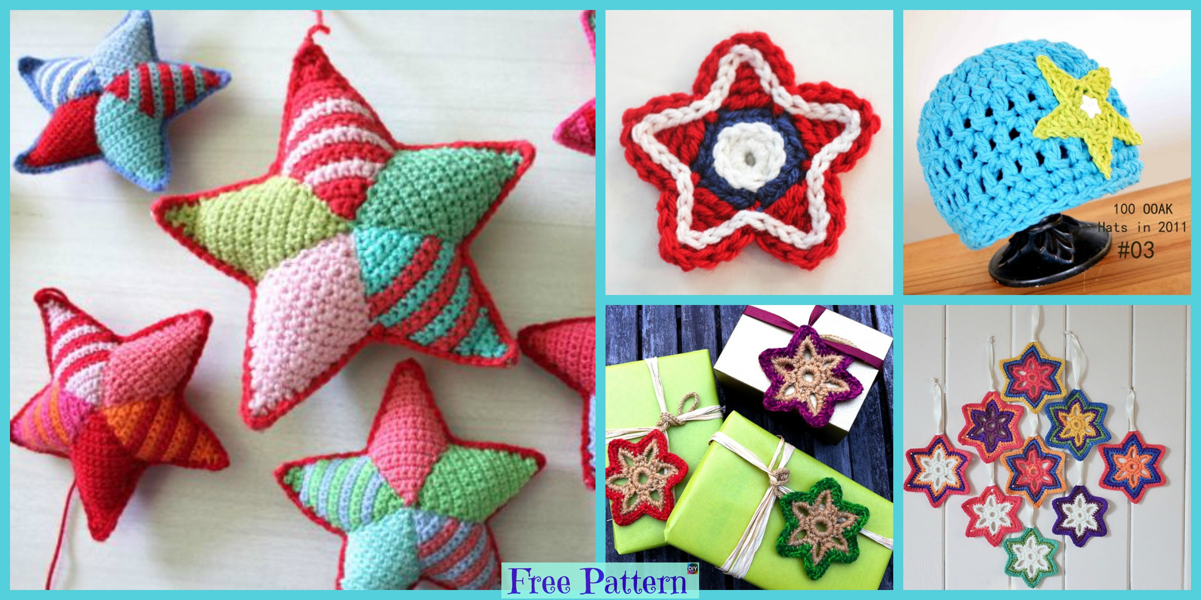 8 Adorable Crochet Little Stars – Free Patterns