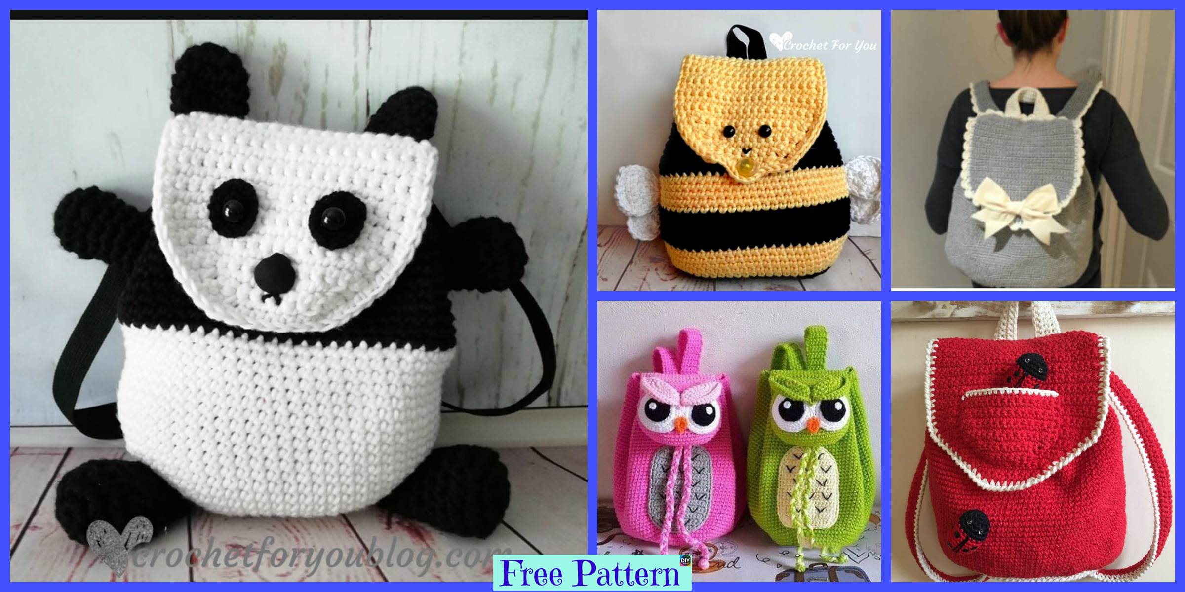 Cute Crochet Backpacks – Free Patterns