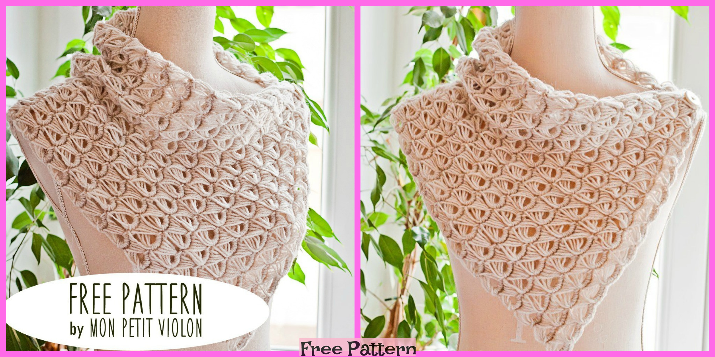Crochet Broomstick Lace Cowl – Free Patterns
