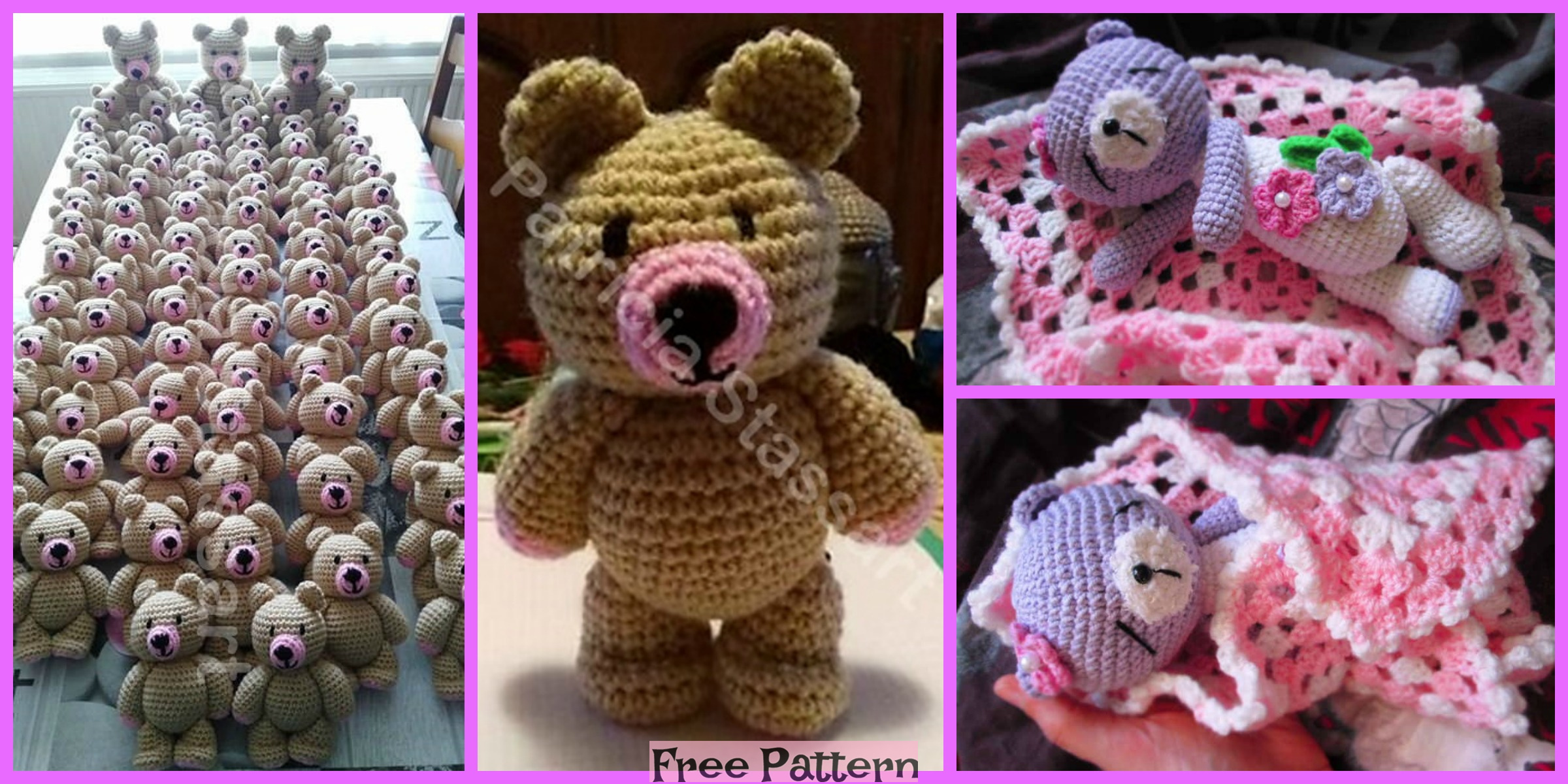 Crochet Cute Bear – Free Patterns