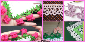 diy4ever-Pretty Crochet Flower Edging - Free Patterns