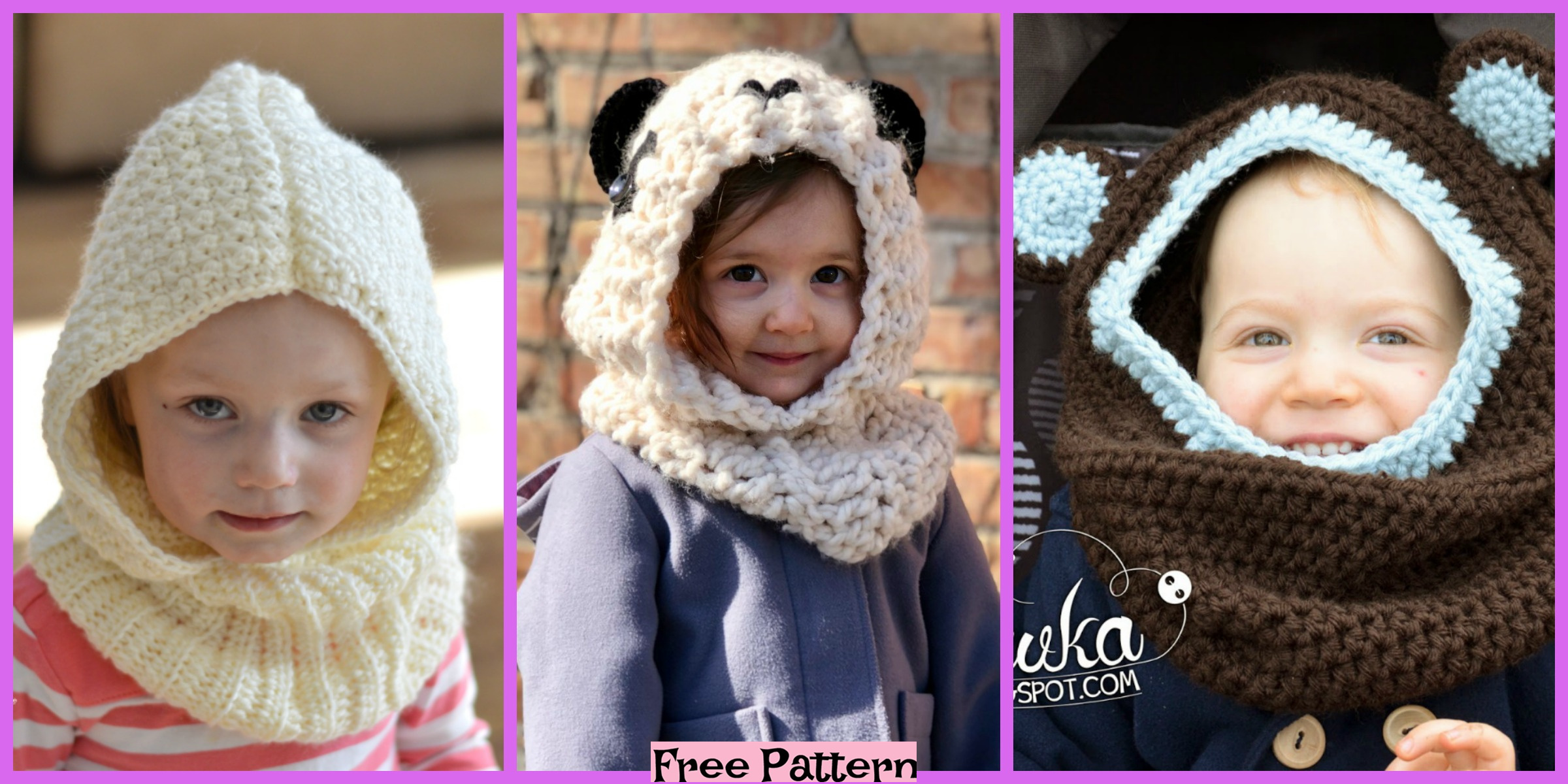 Crochet Hooded Cowl – Free Patterns
