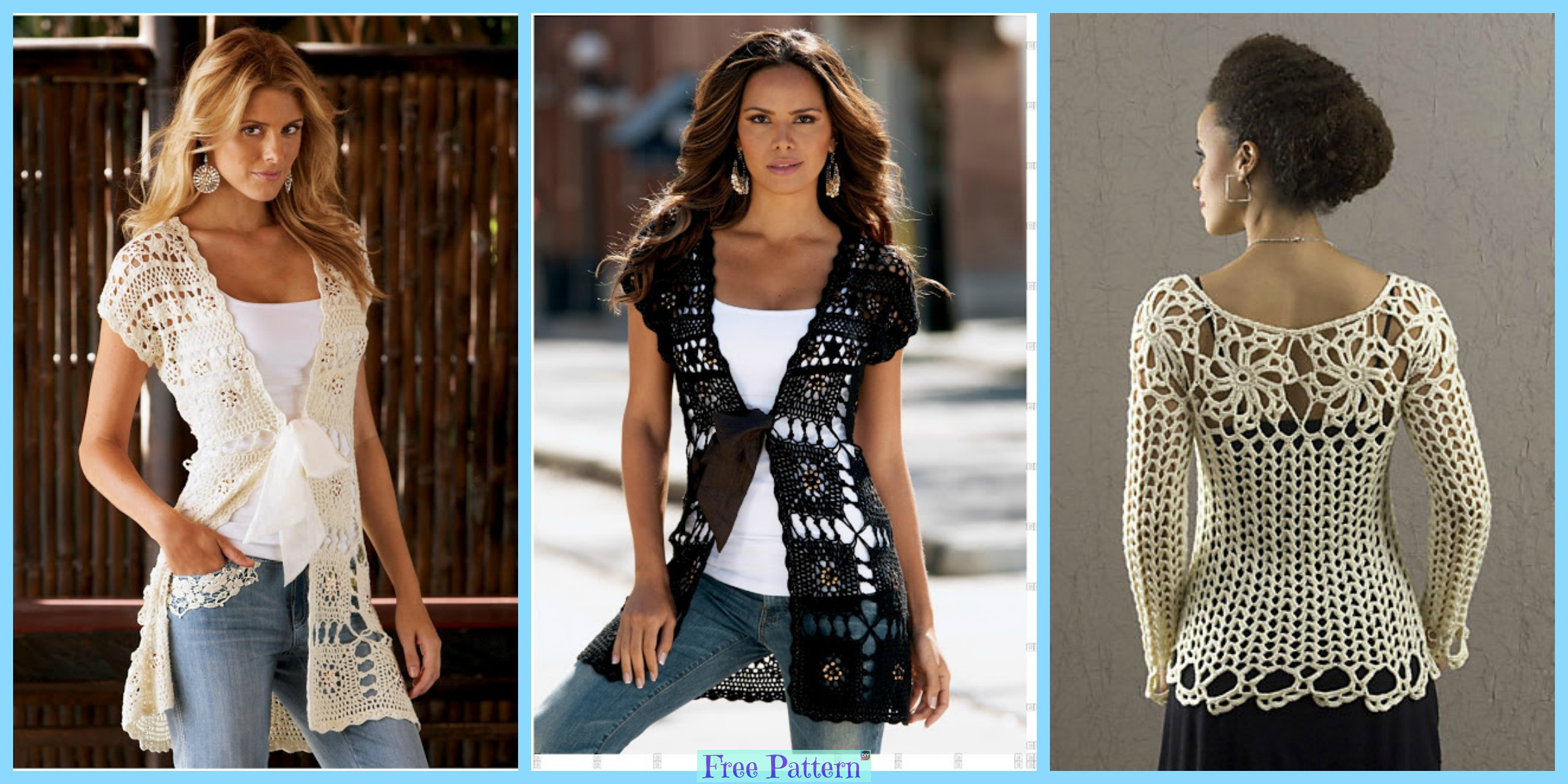 Crochet Lace Summer Tops – Free Patterns