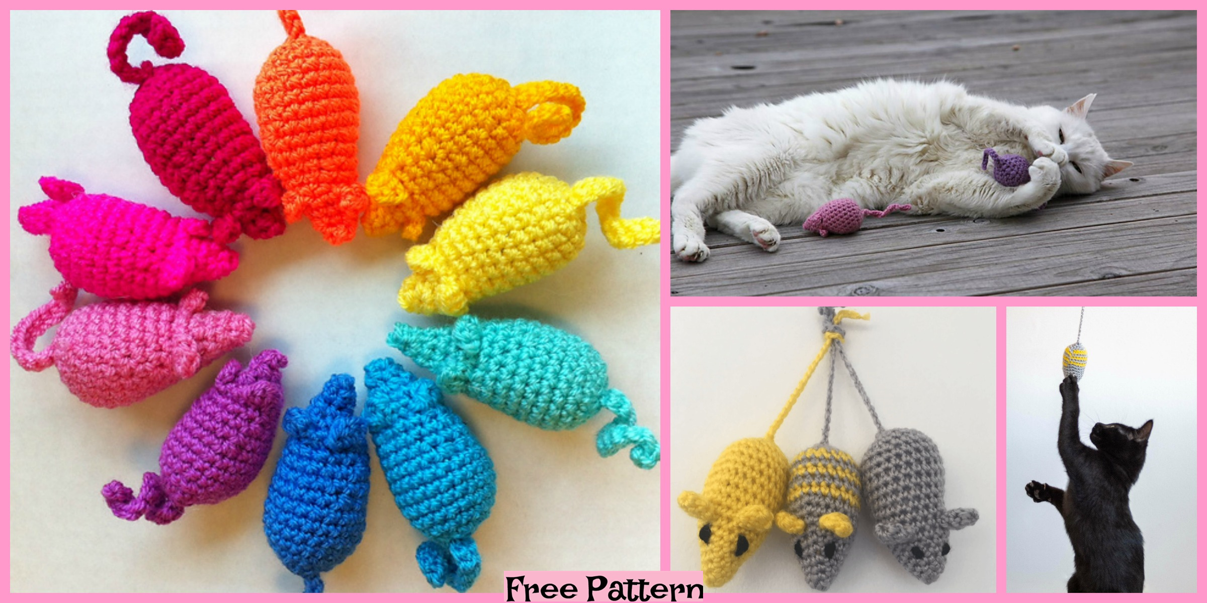 Crochet Mouse Toys for Cat – Free Patterns
