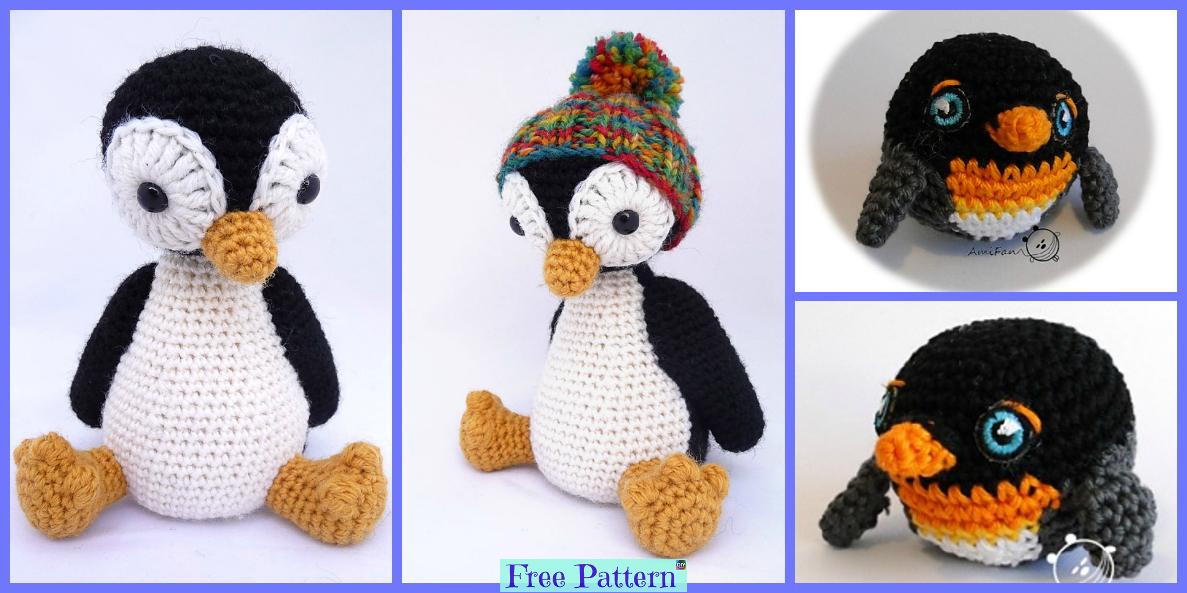 Crochet Pingu Penguin – Free Patterns
