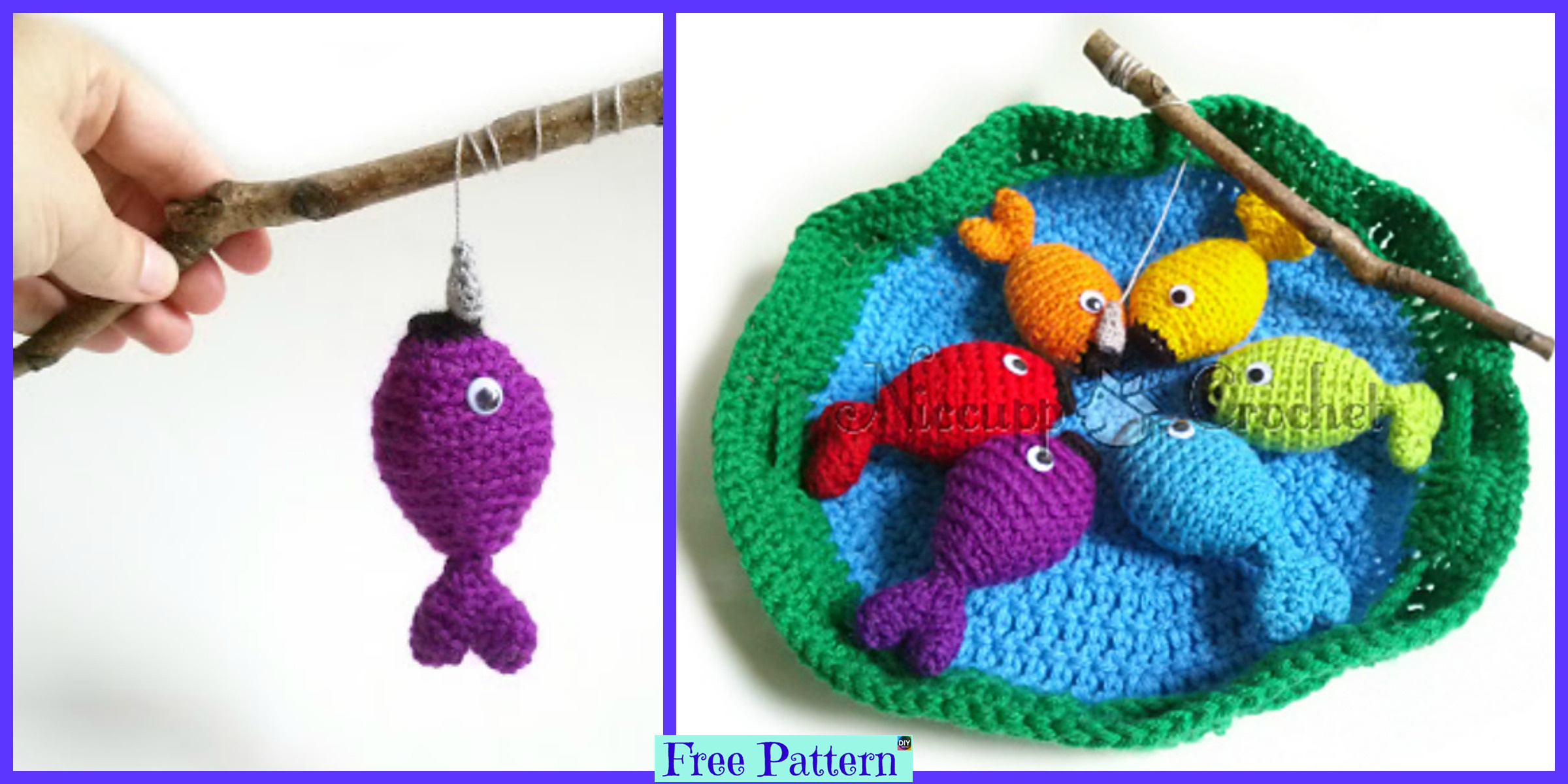 Crochet Rainbow Fishing Game – Free Pattern