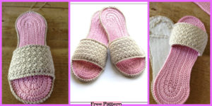 diy4ever- Crochet Spa Slippers - Free Pattern