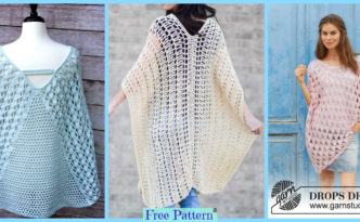 diy4ever- Crochet Summer Poncho Free Patterns