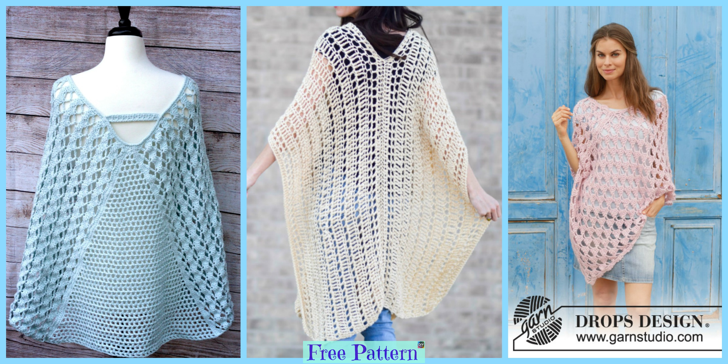 Crochet Summer Poncho Free Patterns