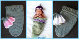 diy4ever-Crochet Tulip Hat & Cocoon Free Pattern