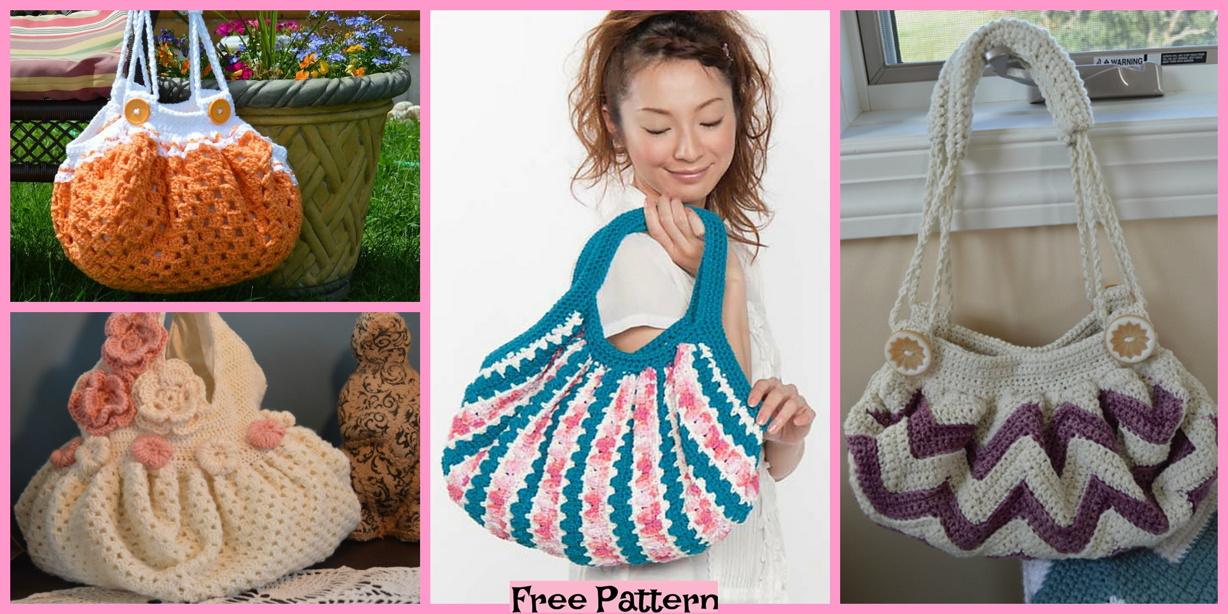 Crochet Unique Bags – Free Patterns
