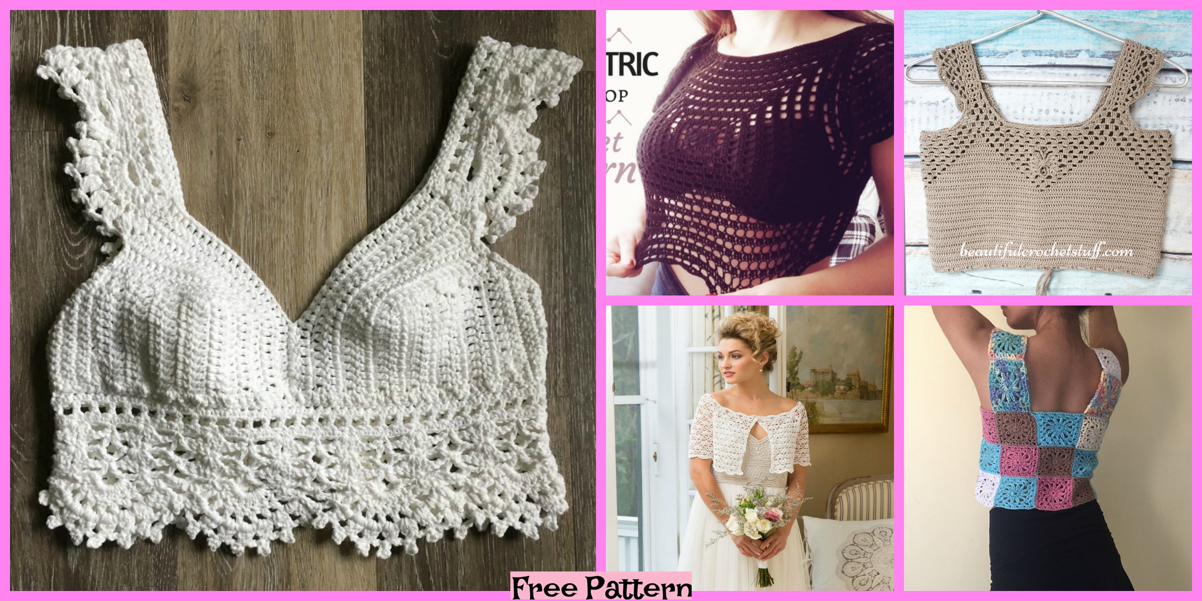 10 Crochet Lace Crop Top Free Patterns