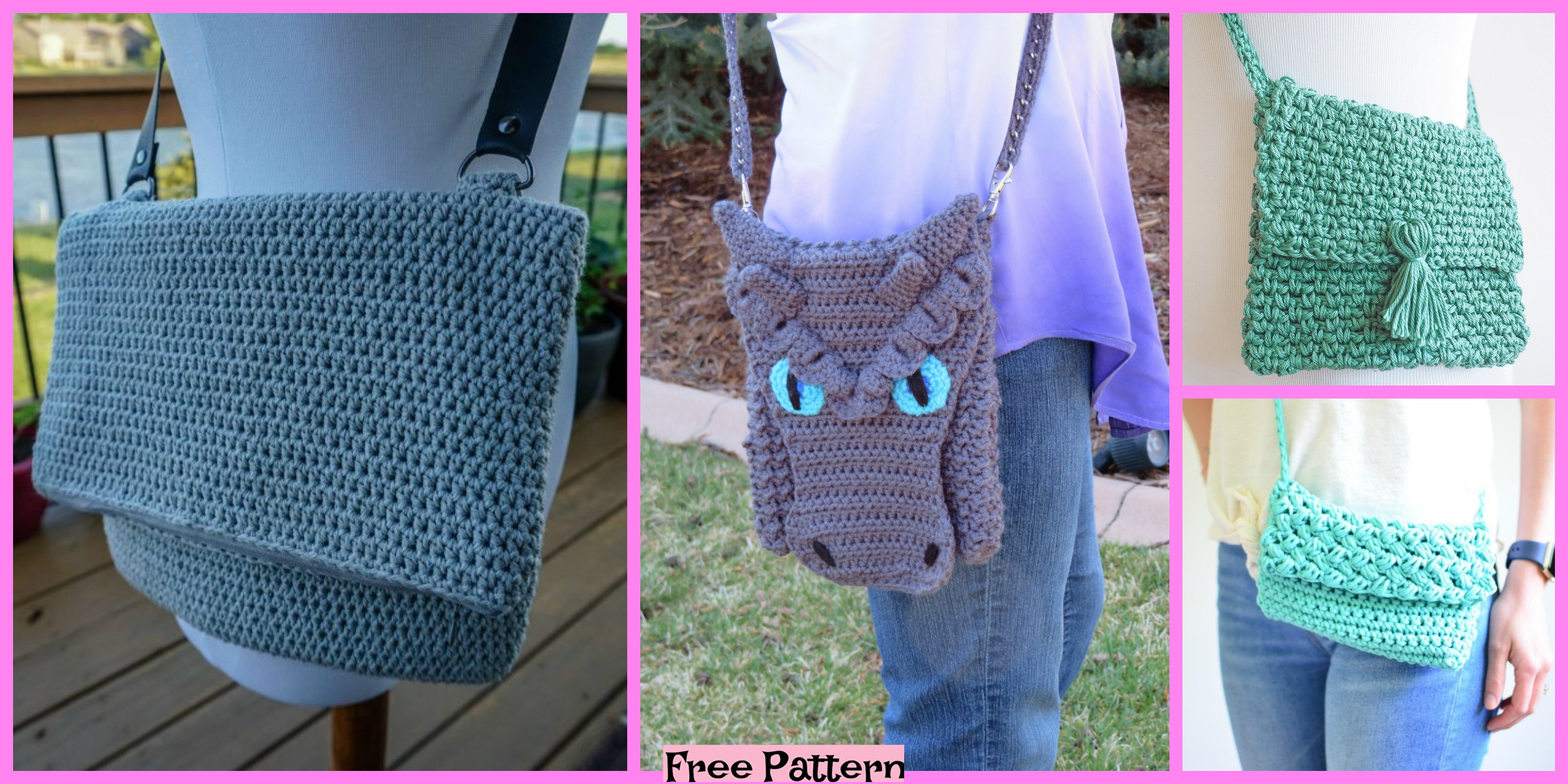 6 Crochet Cross Body Bag Free Patterns