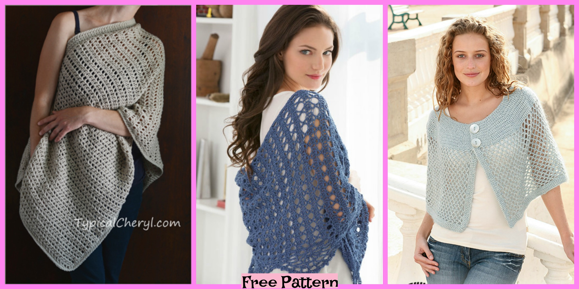 6 Crochet Shoulder Wrap Free Patterns