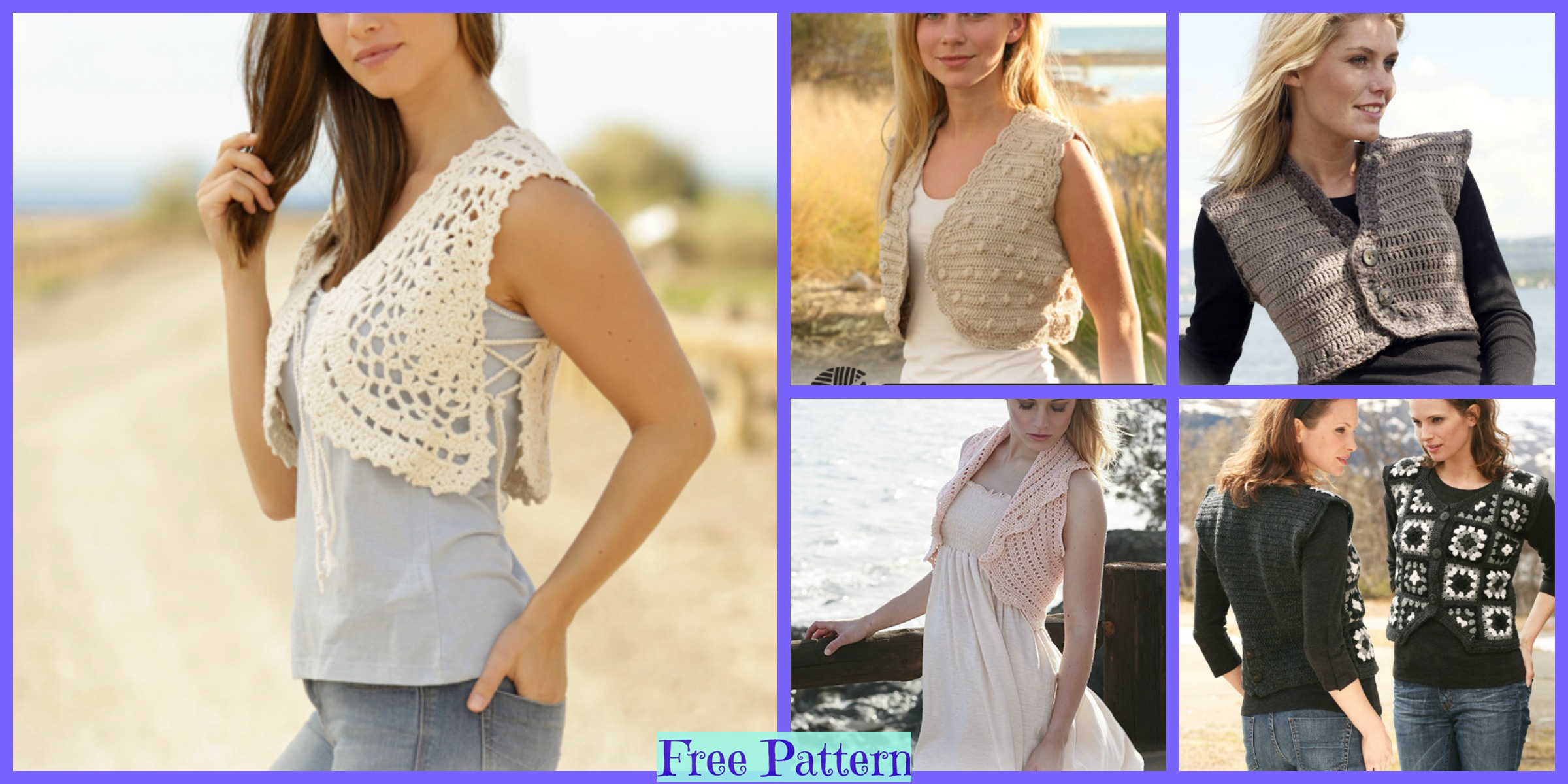6 Unique Crochet Waistcoat Free Patterns