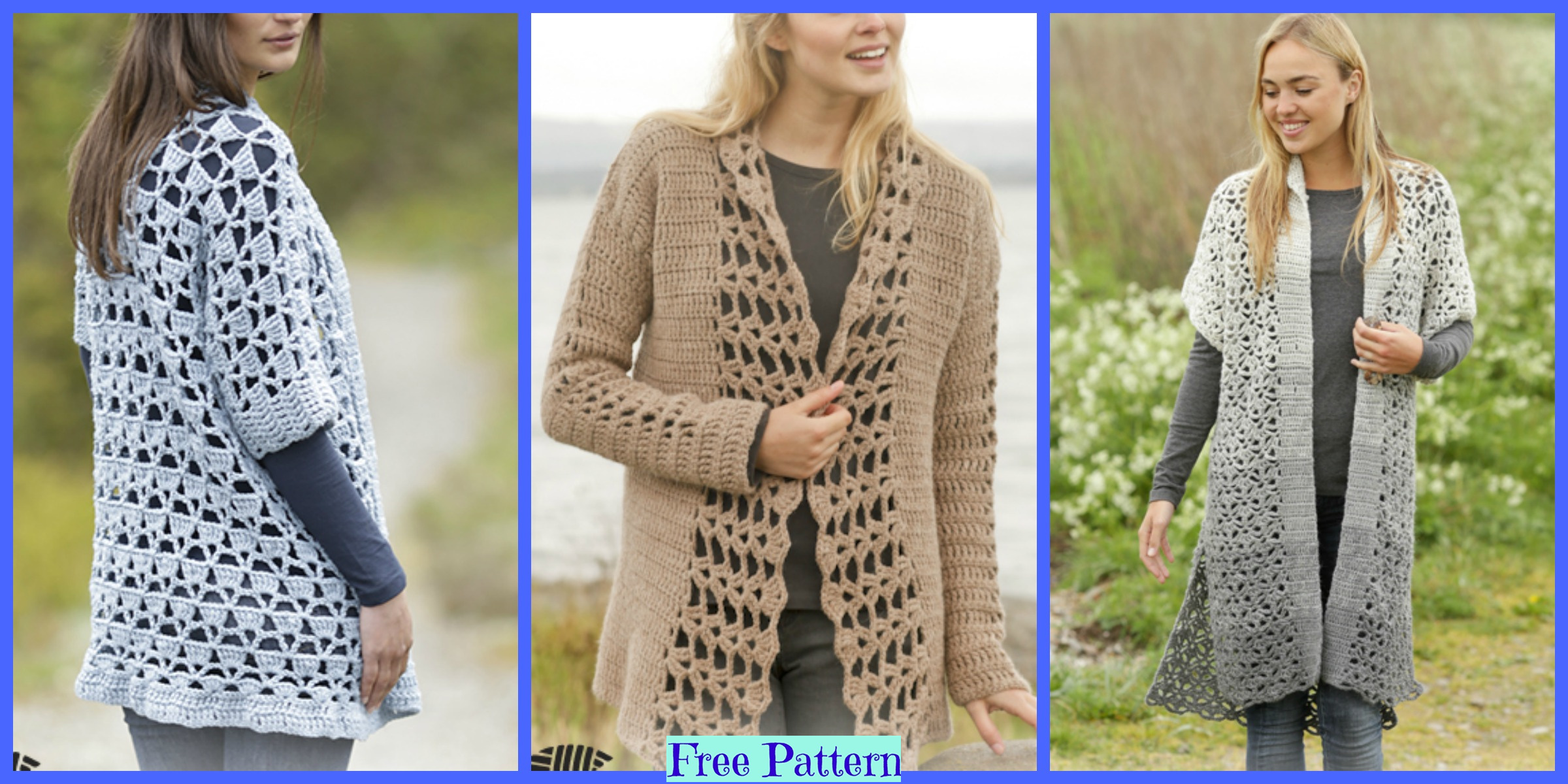 6 Unique Crochet Jacket – Free Patterns
