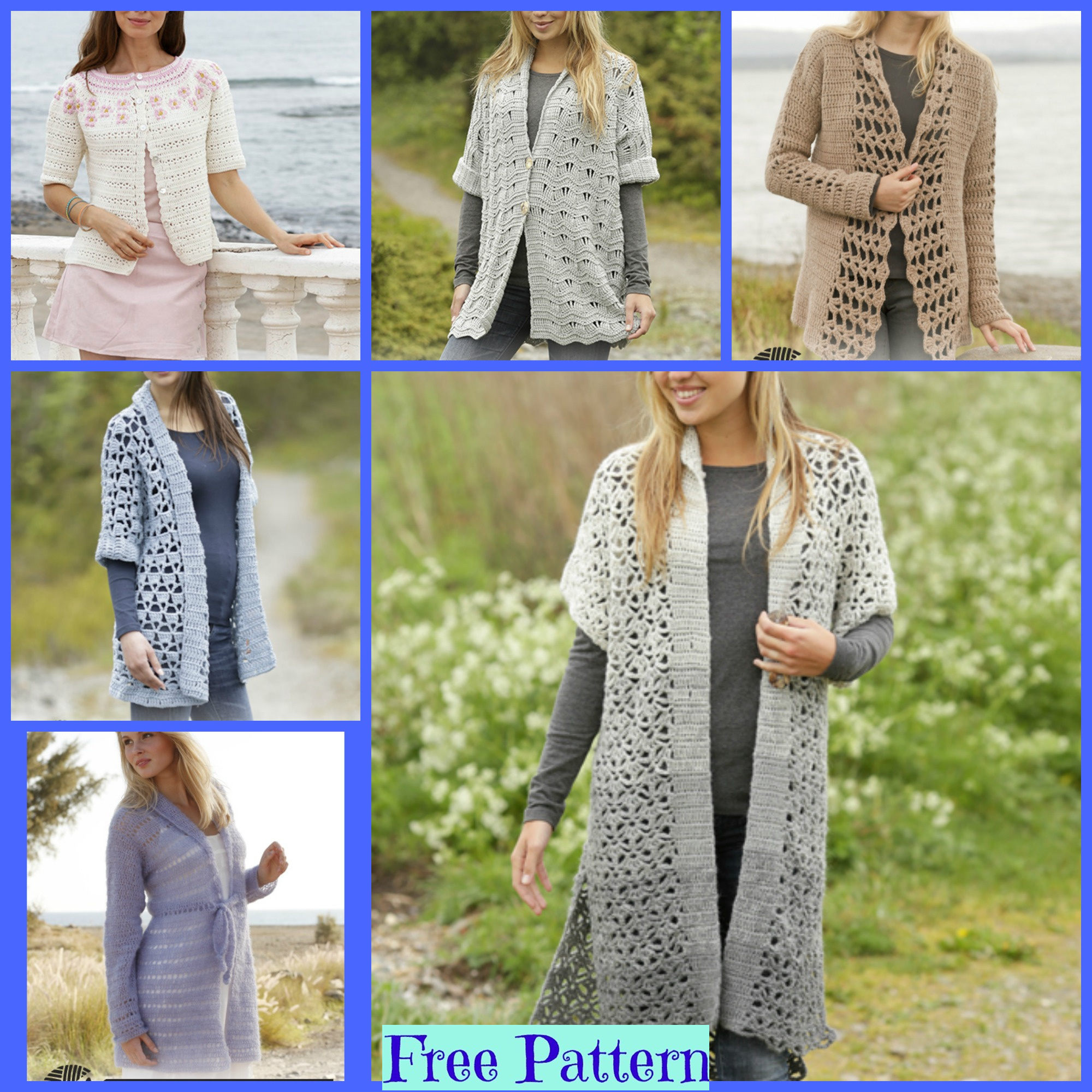diy4ever-6 Unique Crochet Jacket - Free Patterns