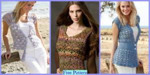 diy4ever-8 Crochet Lace Vests - Free Patterns