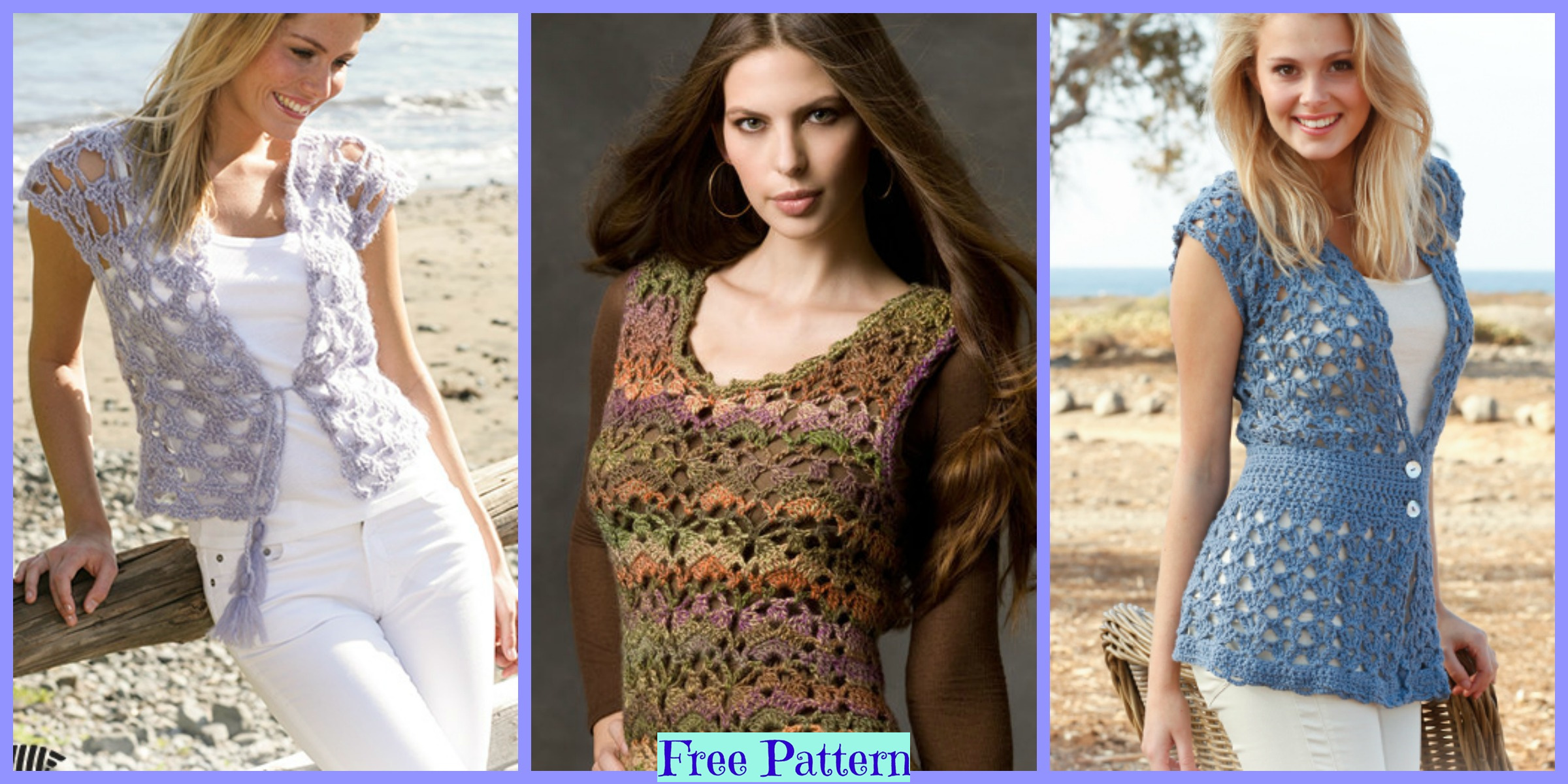 10 Crochet Lace Vests – Free Patterns