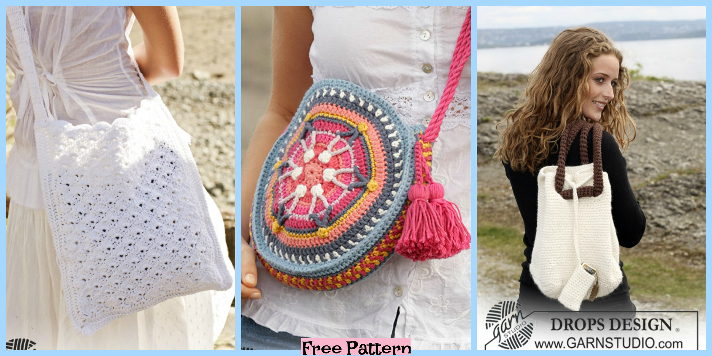 8 Crochet Summer Bags – Free Patterns