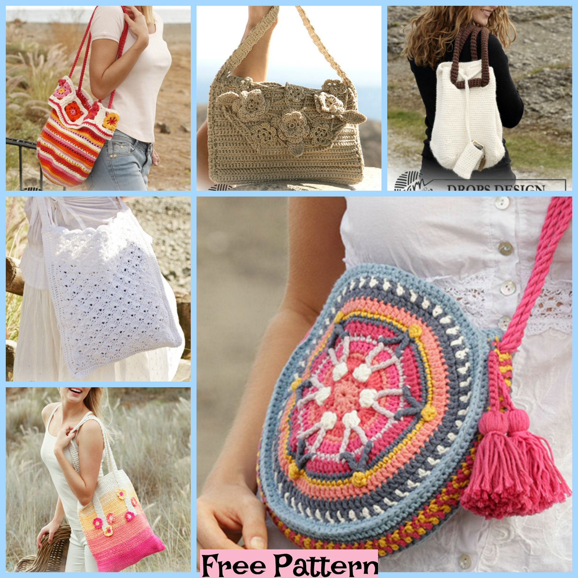 diy4ever- 8 Crochet Summer Bags - Free Patterns F