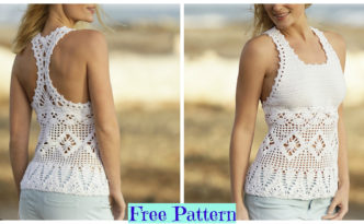 diy4ever-Crochet Aphrodite Top Free Pattern