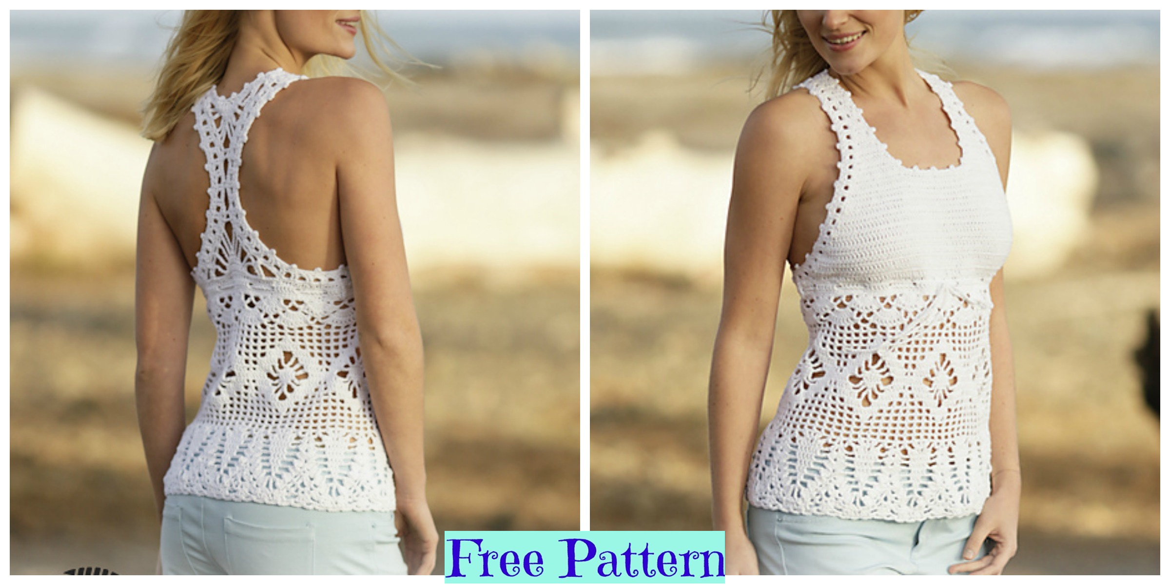 Pretty Crochet  Aphrodite Top Free Pattern