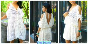 diy4ever-Crochet Boho Mini Dress - Free Pattern