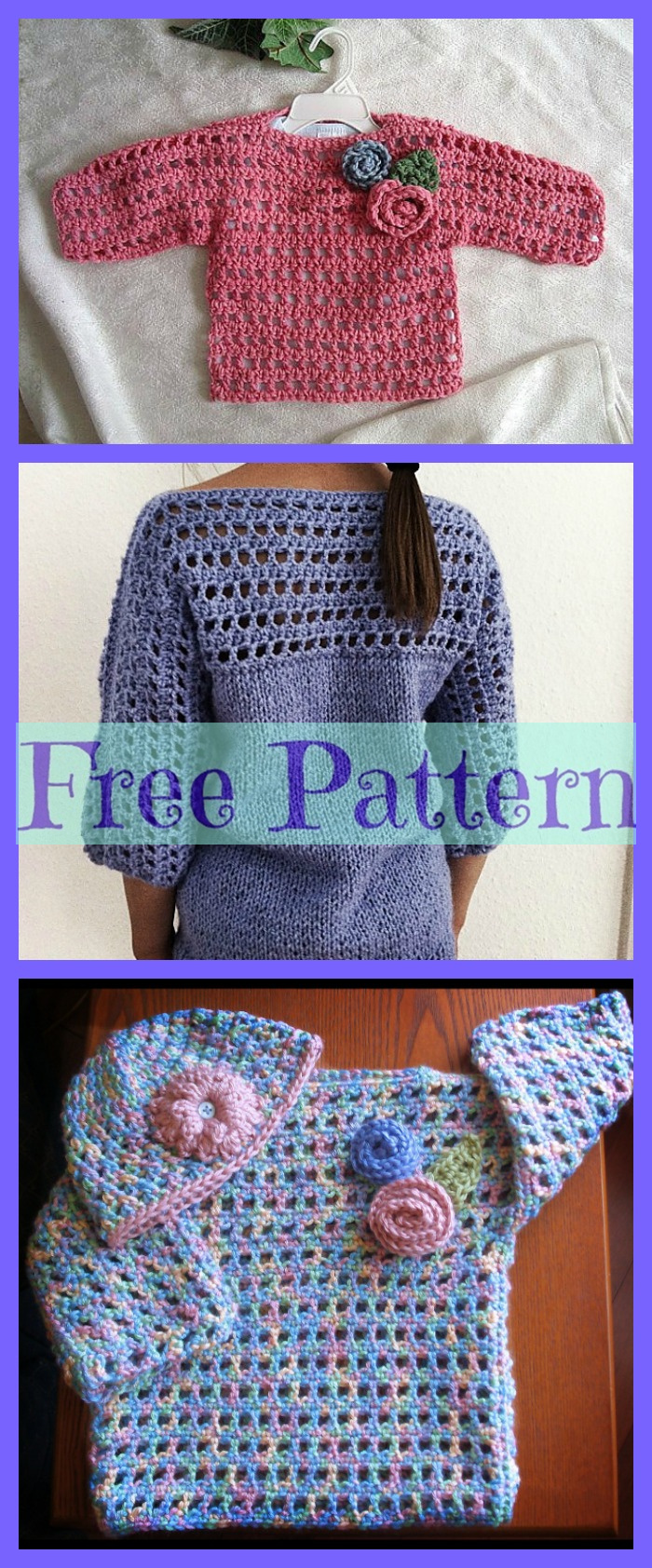 diy4ever- Crochet Girls Top - Free Patterns