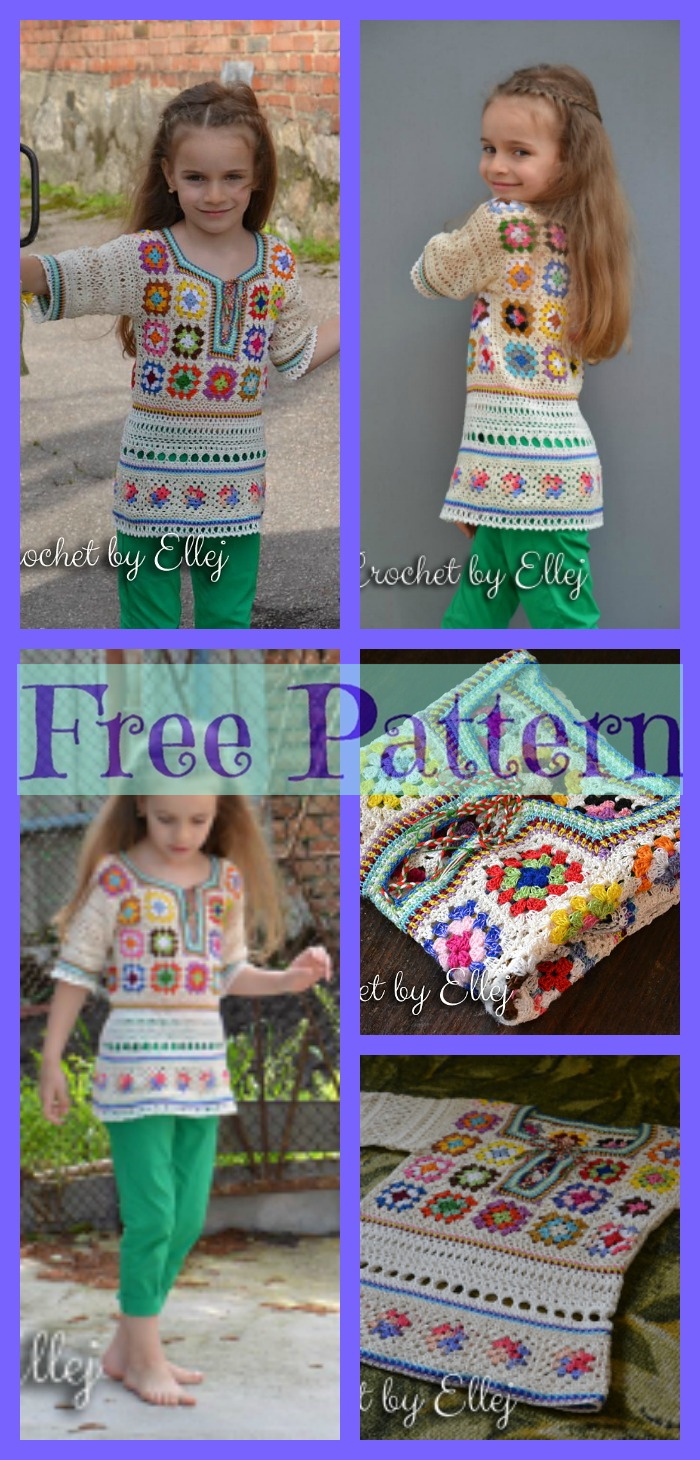 diy4ever- Crochet Girls Top - Free Patterns P3