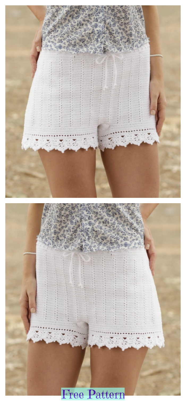 diy4ever-Crochet Summer Shorts - Free Patterns