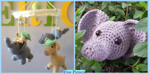 diy4ever-Cute Crochet Elephant - Free Pattern