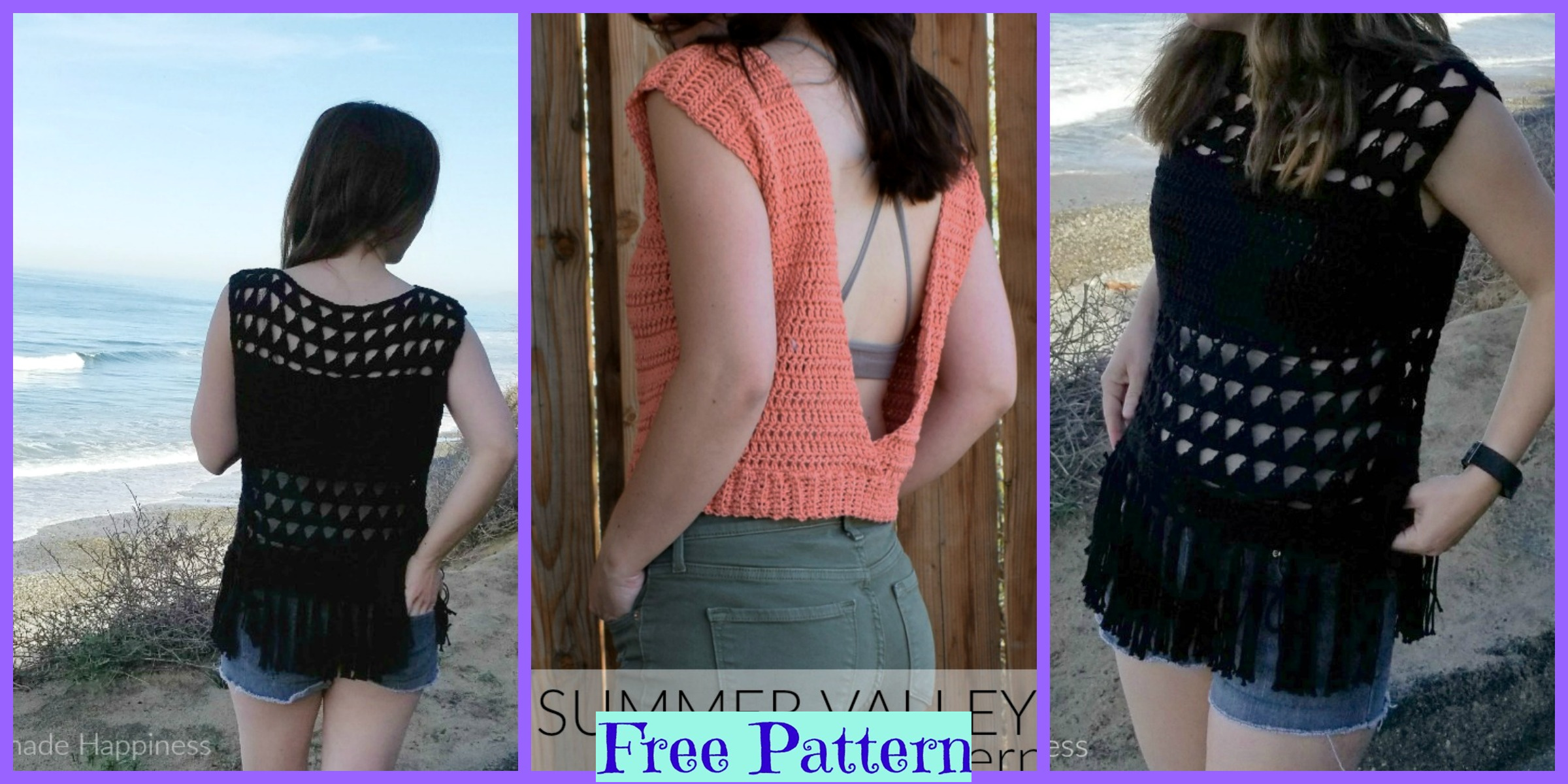 Summer Valley Crochet Top Free Pattern