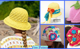 diy4ever-6 Summer Sun Hats - Free Crochet Patterns F